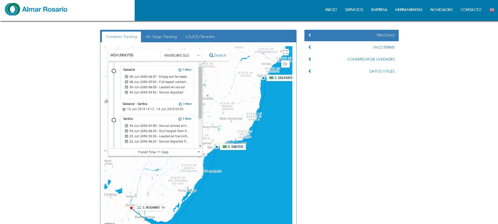 Nueva Pagina Web / Nuevo Tracking